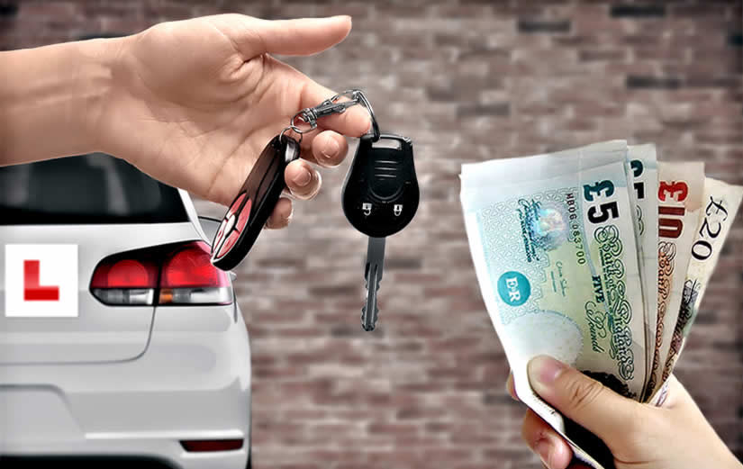 A driving instructor's income is typically made up from cash or bank transfers