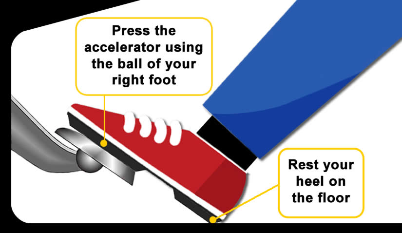How to use the car accelerator pedal