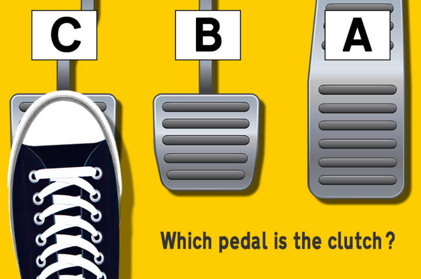 Which pedal is the clutch pedal explained and how to remember